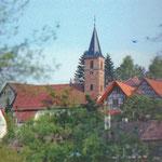 Blick zur evang. Kirche