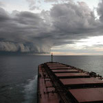 Tropical cyclone Graham in February 2002 off the Western Australian coast near Port Hedland. Copyright Marine Science Australia.