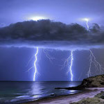 Storm cell near the coast at Hallet Cove in South Australia. Copyright Stephen Scheer Photography.