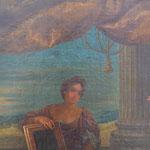 Detail, Vorzustand, alte Übermalungen im Himmel