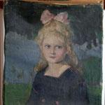 Mädchenporträt, Vorzustand