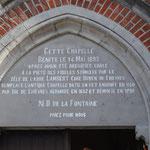 Tympan de la chapelle Notre-Dame de la Fontaine - Photo de Emilie Nisolle