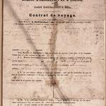 Un contrat de voyage pour l'Argentine