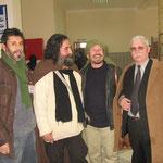 de droite à gauche Allalouche, Tabrha, Boukerche au Salon de Djelfa