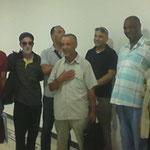 Au palais de la culture al khalifa ( Constantine) avec Kamel Benchemakh, Mourad Abdelaoui, Ammar Allalouche, Youcef Maatoug, Lakhdar Khalfaoui.