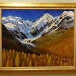 秋のベルニナ山群