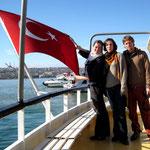 sur le bateau vers Üsküdar