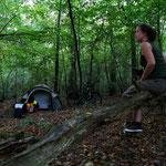 camping en forêt près de Laon