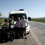 Georges, Aline et leur camping-car sur le retour de la Mongolie