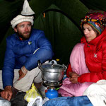 réunion dans notre tente