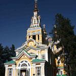 la cathedrale d'Almaty, vestige du colonisateur russe
