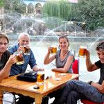 le plaisir de la bière en terrasse
