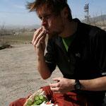 Menu du moment: sandwich feta, tomates, concombres