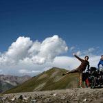 3400 mètres d'altitude, avant de redescendre vers le lac Song Kol
