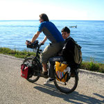 vélo-stop sur le retour de l'école