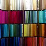 le choix de la couleur du sari