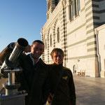 Cyril et Julien sous Notre Dame de la Garde