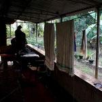 apres une nuit sur la terrasse a Champakulam