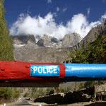 énième contrôle policier avant d'arriver à Skardu