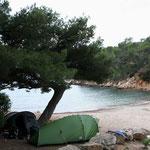 camping au port d'Alon, près de Bandol, avec Leïla et Sarah