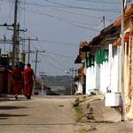 Bylakkuppe, village bouddhiste, au sud de l'Inde