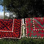Shyrdaks, les tapis kirghizes en laine bouillie