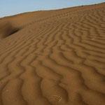 les quelques dunes qu'on a pu apercevoir, entre Tabas et Yazd