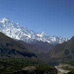 le Rakaposhi vu depuis le village de Karimabad