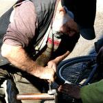 Réparation vélo...