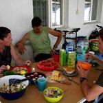 """repas """"de luxe"""" avec Aziza et Yorma"""