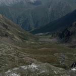 la descente vers Altyn Arashan et ses sources chaudes