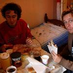 petit déj serbe : burek et yaourt