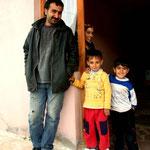 une famille qui nous a sauvés de la pluie