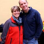 Dawn et Luke qui nous accueillent à Citta di Castello