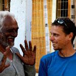 le papa de Chandru, grand admirateur de notre voyage a velo