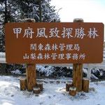 木製野外観光案内板