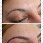 Augenbrauen-Neugestaltung durch zupfen