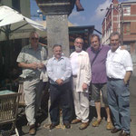 The lads - Sim, Michael, Richard and Yvan with Adrian and guide Tony