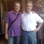Sydneysiders Yvan & Michael take a break from the Tennis Open at the Mecca of Rugs