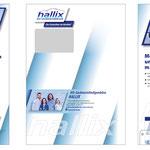 Stellenanzeige, DIN C4 Briefumschlag, Tischaufsteller DIN A4 mit Visitenkartenhalter