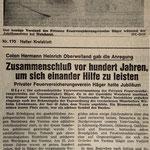 Zeitungsbericht zum 100jährigen