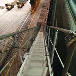 Steil hinauf ging es auf der Gangway