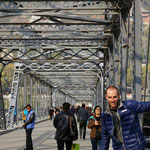 Lanzhou, Zhongshan Brücke über den Yellow River