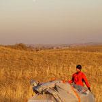 Zeltleben in Kasachstan
