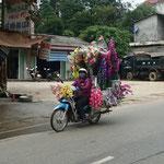 Fahrender Blumenladen