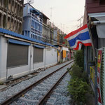 Train Market in Samut Songkhram