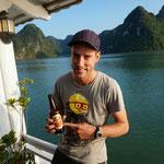 Halong Bier in der Halong Bucht