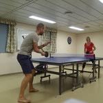 Beim täglichen Ping-Pong Training