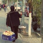 Lanzhou, Granatäpfel zu verkaufen