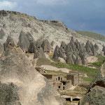 Blick aus dem Selime Monastery auf die Star Wars Kulisse